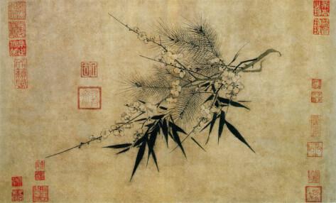 Bitter Winter (日本語) - 中国における信教の自由の迫害と人権に関する雑誌。松と竹は寒中にも色褪せず、また梅は寒中に花開く。これらは「清廉潔白・節操」という、文人の理想を表現したものと認識された。
