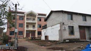 台所が壊された後の徐美蘭さんの自宅