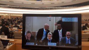 認可を受けたNGO「CAP-LC」のクリスティーヌ・ミッレ(Christine Mirre)氏が、2019年3月19日、ジュネーブで行われた第40回国連人権理事会にて、口頭による声明を発表した。