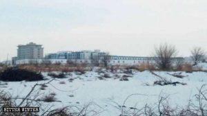 甘粛省酒泉市にあるウイグル族を拘束する刑務所。