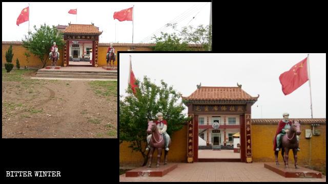 「毛主席仏陀寺」の外観。