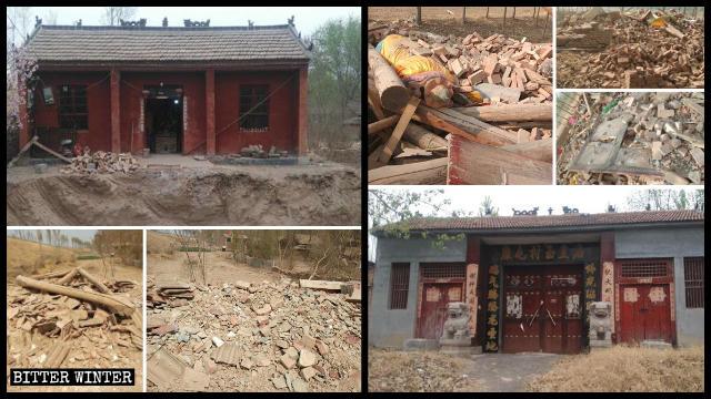 臨沂市の2つの寺院が取り壊された。
