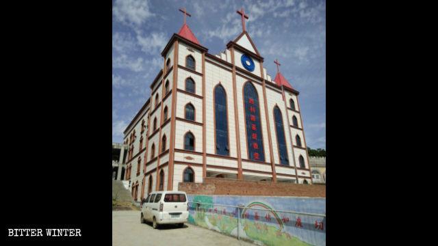 勝利路に建つ教会堂の元の外観。