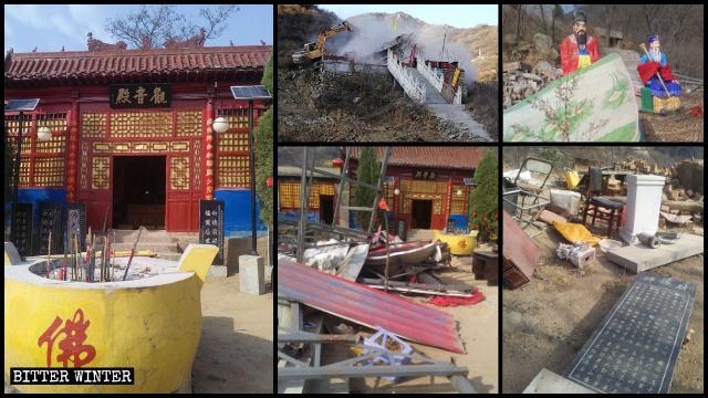 封竜山上の寺院は強制的に取り壊された。