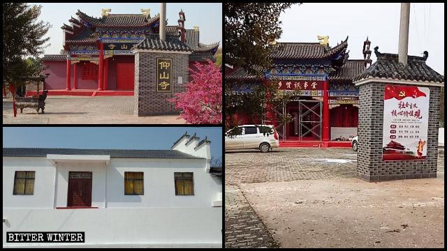 仰山寺の外壁は白く塗りつぶされ、寺院は「地域の賢者の議事堂」に名を変えた。